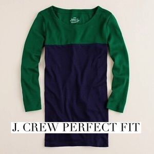 J. Crew Tops - Jcrew perfect fit colorblock tee