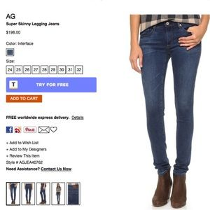 AG Adriano Goldschmied Denim - Like new AG super skinnies bundle w Levi's