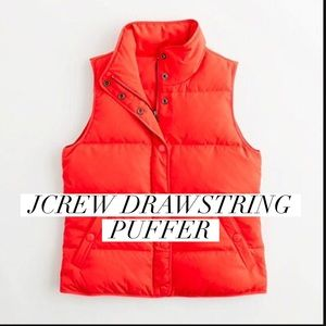 J. Crew Jackets & Blazers - Orange Jcrew puffer vest