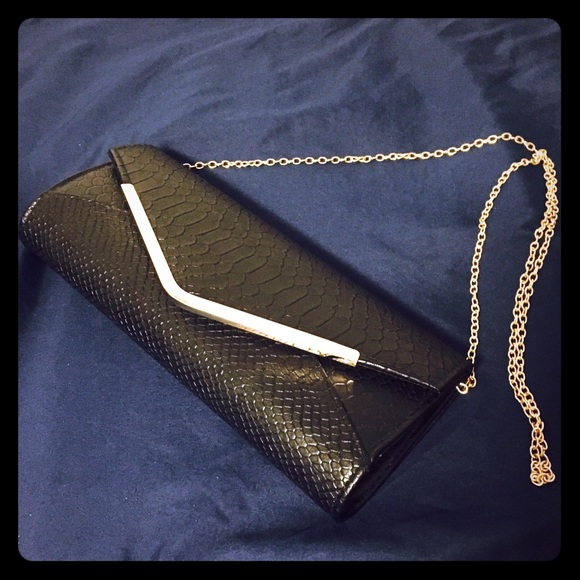 515f575baa Naturalizer black clutch bag with gold chain strap.  M_563ea9ccf092826d73014699