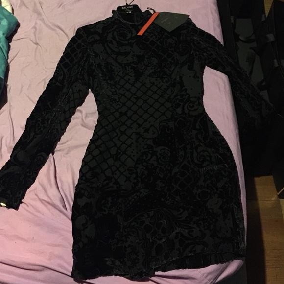 a7088a79b3c50 Balmain Dresses | Collab Hm Brand New Wtags Velvet Dress | Poshmark