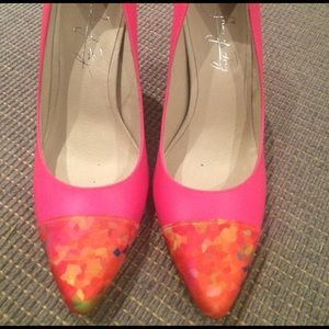 Shoes of Prey Shoes - Neon pink heels.