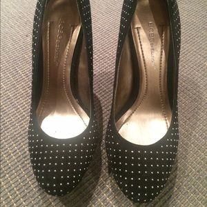 BCBGeneration Shoes - Black studded heels.
