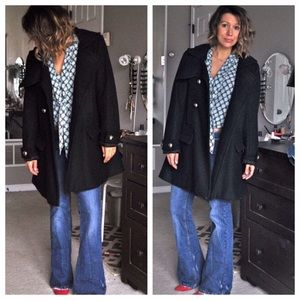 Jackets & Blazers - Swingy black pea coat military
