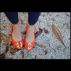Tory Burch Shoes - Tory Burch orange flats