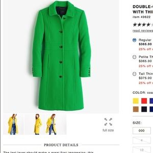 J. Crew Jackets & Blazers - Jcrew lady coat in green