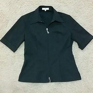 Vertigo Paris Tops - Vertigo Black Office Shirt Top