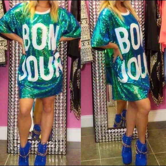 2de05a4f962 Dresses   Skirts - Bonjour sequin dress