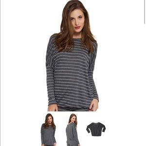Eberjey Tops - Eberjey ticking stripes slouchy tee