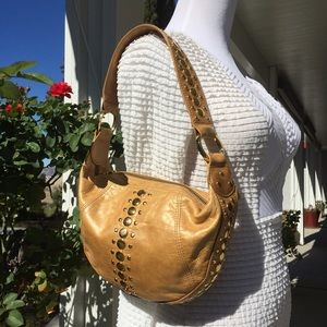 Junior Drake leather hobo handbag