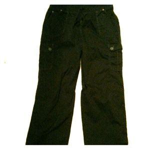Black cargo-like pants