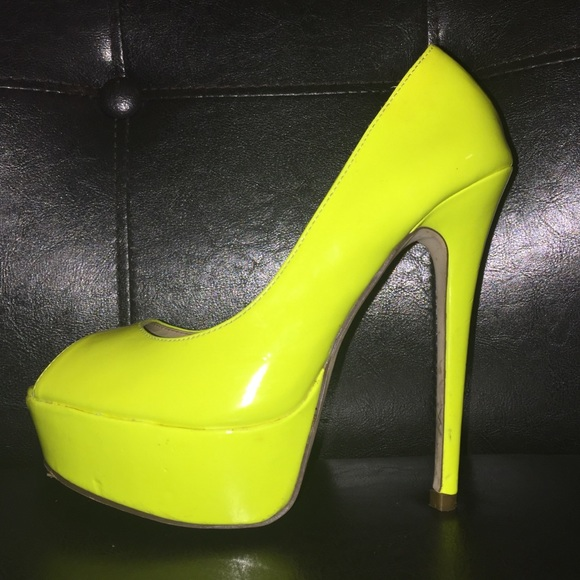 e56fe62803ae Green And Yellow High Heels - Js Heel