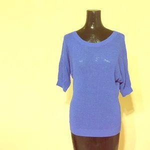 Express Blue Knit Top