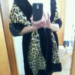 Jackets & Blazers - VINTAGE REAL LEOPARD and mink
