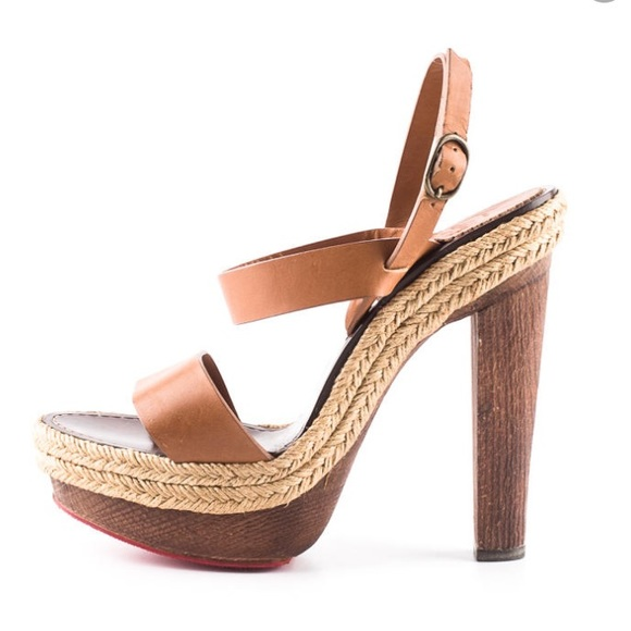 a0d17c663f50 Christian Louboutin Shoes - ⚡️SALE Louboutin Leather Espadrille Wood  Platform