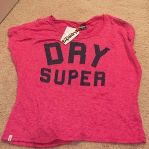 Superdry Tops - Pink burnout Superdry off the shoulder top