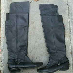 Dv leather horse riding style over the knee boots