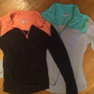 2 Fleece zip ups