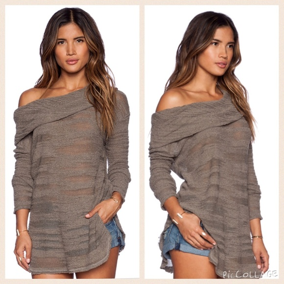 40% off Free People Sweaters - NEW! FP Reunion Slubby drape cowl ...