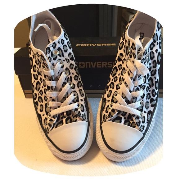8bef59ce495c Converse Shoes - Converse Leopard print tennis shoes
