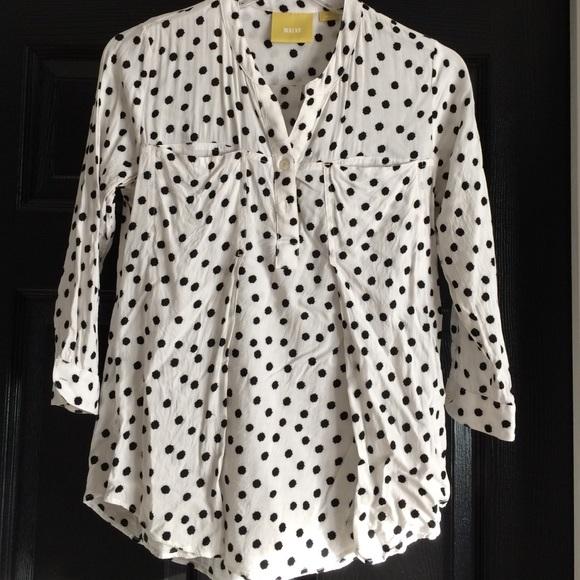 a843212707de6 Maeve Tops - Anthropologie polka dot blouse