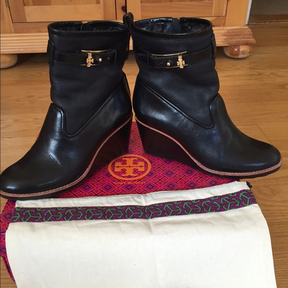 43f344ab34af Tory Burch Primrose Wedge Bootie. M 563f62497fab3a90e9018b21. Other Shoes  you ...