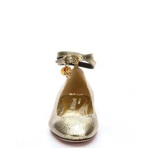 Alexander McQueen Shoes - Alexander McQueen metallic gold flats size 9