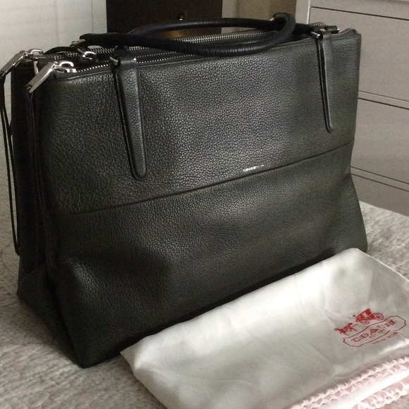 799eaba9 Coach Large Borough Bag in Dark Green