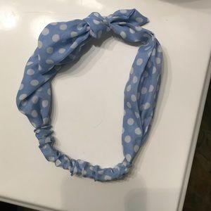 Forever 21 blue polka dot headband