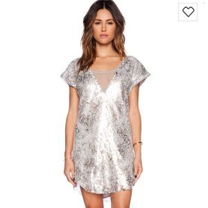 FREE PEOPLE shattered glass dreamed dress