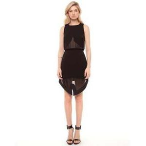 Cameo Dresses & Skirts - Cameo dress small see thru asymmetrical nasty gal