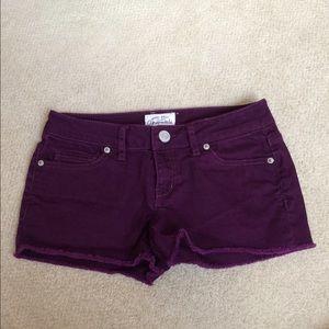 Purple Denim Shorts