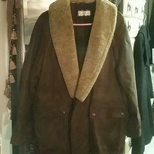 bark Other - Men's suede brown fur collar size 50 BARK jacket.