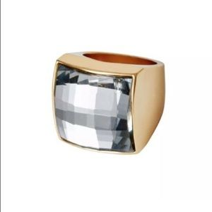 BALMAIN X H&M Jewelry - Balmain X H&M Clear Crystal Gold Ring