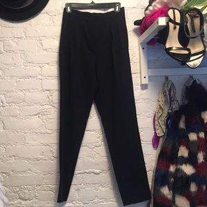 Roberto Collina Pants - black tapered high waist pants