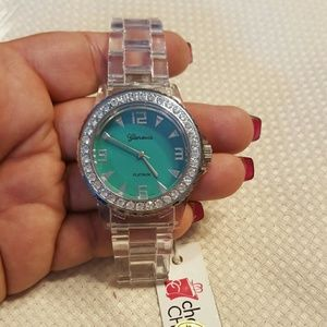 Clear plastic watch