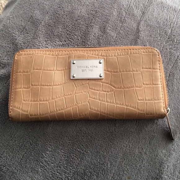 912283ea12ed Peanut brown crocodile mk wallet. M 563fafcf44adba516701b668. Other Bags  you may like. Michael Kors card holder