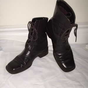 Bass chocolate brown ankle lace up boots Sz 7 1/2