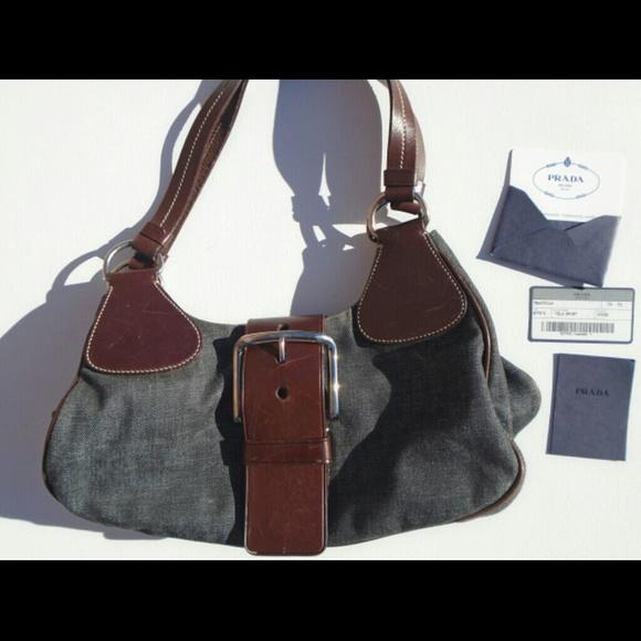 a2655f1e9bf1 Prada Bags   New Denim Purse With Authenticity Card   Poshmark