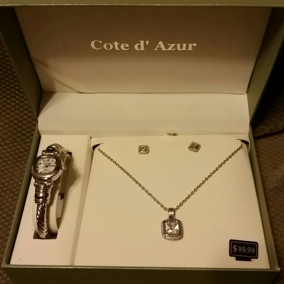 acac96c5c33dc1 Cote d' Azur Jewelry   Set Necklace Earrings And Watch   Poshmark