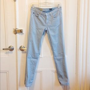 Baby Blue AG Stevie Ankle Slim Straight Jean