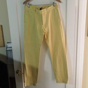 Men's J.Crew Yellow Trouser Pants