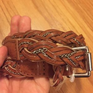 Chain woven brown belt