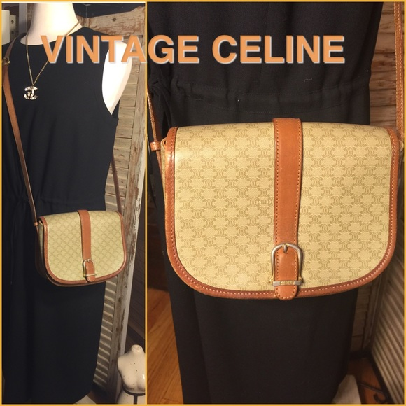 6cad88ff1190 Celine Handbags - SALE🌷AUTHENTIC VINTAGE CELINE TAN CROSS-BODY BAG