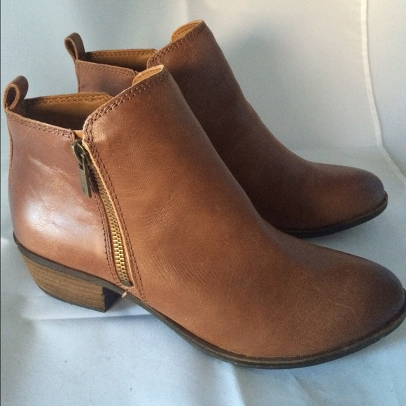 Lucky Brand Basel Toffee Leather Bootie - sz 8