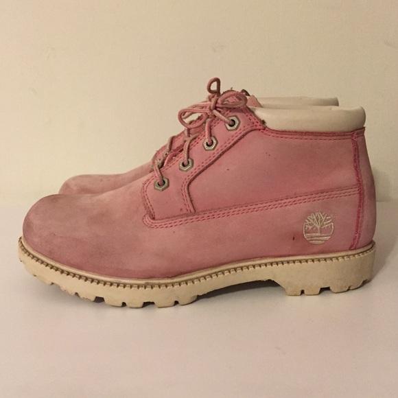 Women s Nellie Chukka Pink Timberlands. M 563fcaf5b4188ecd7001cc78 6050a4780
