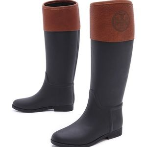 Black And Brown Rain Boots - Cr Boot