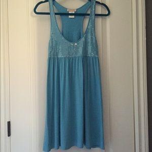 LaRok Tops - LaRok Blue Sparkly Blouse/Tunic