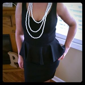 Black fitted Peplum dress NWOT