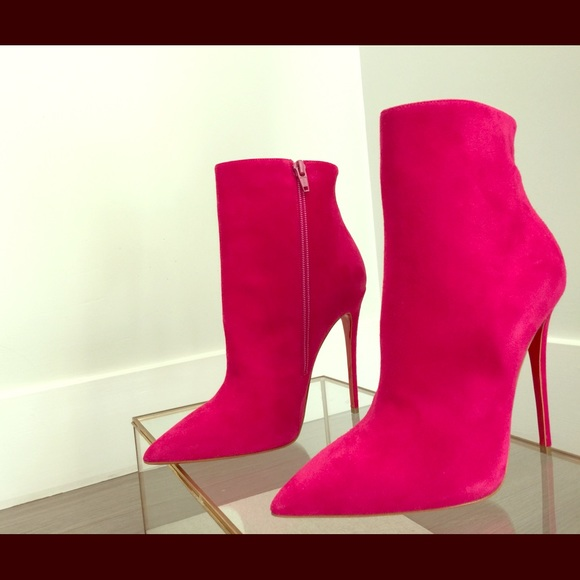 8b72aba6500 Cyclamen Suede So Kate 120 Booty ankle boots